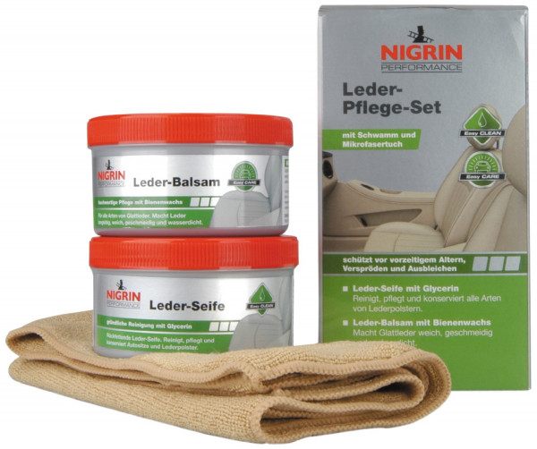 Nigrin Performance Leder Pflege Set 4tlg